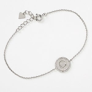 Pave Initial Personalized Bracelet - 17112D