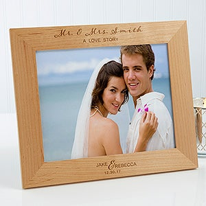 Personalized Wood Wedding Frames Elegance 17115