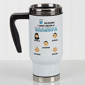 Personalized Commuter Travel Mug His Reasons Why