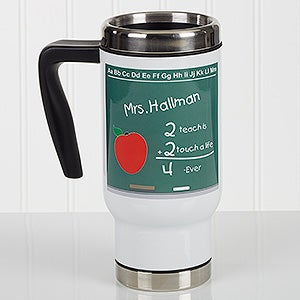 Personalized Commuter Travel Mug - Chalkboard Teacher - 17139