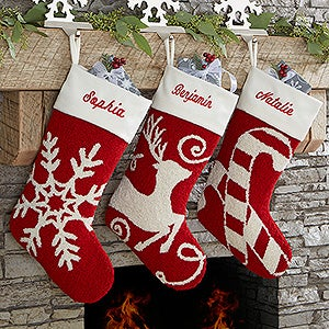Personalized Hooked Crochet Christmas Stockings - 17144