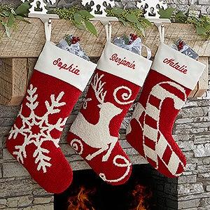 joyful celebrations personalized crochet christmas stockings - Crochet Christmas Stockings