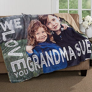 Personalized Photo Premium Sherpa Blanket - Loving Her - 17156