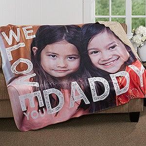 Personalized Photo Premium Sherpa Blanket - Loving Him - 17157