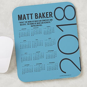 Personalized Calendar Mouse Pad - Calendar & Quote - 17159