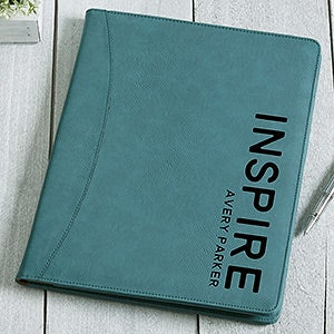 Personalized Full Pad Portfolios - Bold Style - 17183