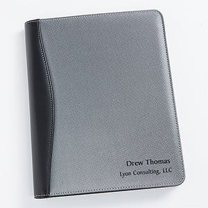 Personalized Silver & Black Portfolio - Signature Style - 17187