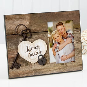 Personalized Picture Frame - Key To My Heart - 17200