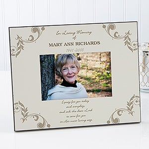 personalized memorial picture frame in loving memory 17201