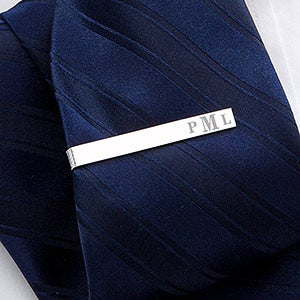 Personalized Tie Bar - Raised Monogram - 17212