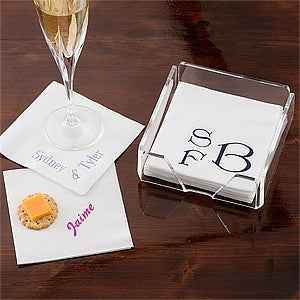 Personalized Linen Napkins & Guest Towels - Name & Monogram - 1722D