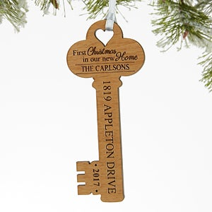 New Home Ornament - Personalized Key Ornament - 17235
