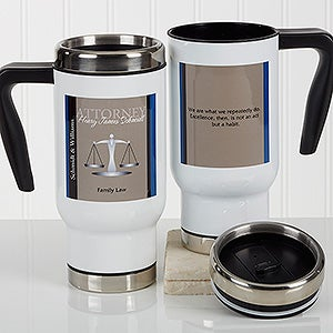 Personalized Lawyer Quote Commuter Travel Mug - Legal Ease - 17260