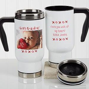 Personalized Photo Commuter Travel Mug - Loving You Photo - 17261