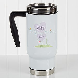 Personalized Commuter Travel Mug - First Time Grandma - 17265