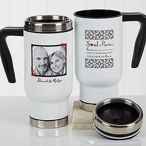Personalized Romantic Photo Commuter Travel Mug - Soul Mates - 17266