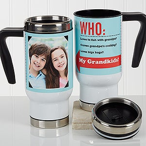 Personalized Photo Commuter Travel Mug - Who Loves You? - 17267
