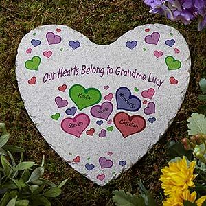 Personalized Heart Garden Stone - My Heart Belongs To - 17272