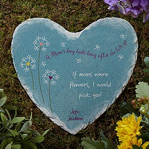 Personalized Mom Heart Garden Stone - A Mom's Hug - 17275