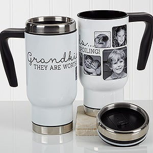 Personalized Photo Commuter Travel Mug - They're Worth Spoiling - 17282