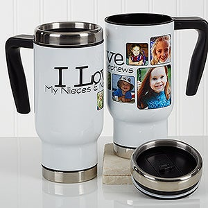 Personalized Photo Commuter Travel Mug - They're Worth Spoiling - 17287