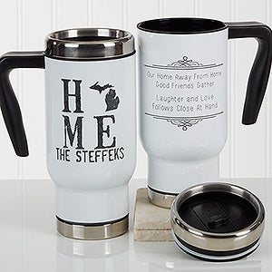Personalized Travel Mug - State of Love - 17288