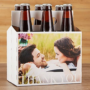 Personalized Photo Wedding Beer Bottle Labels & Carrier - 17297