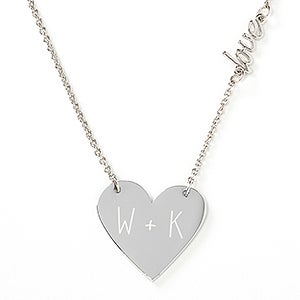 Initially Yours Engraved Heart Icon Necklace - 17300