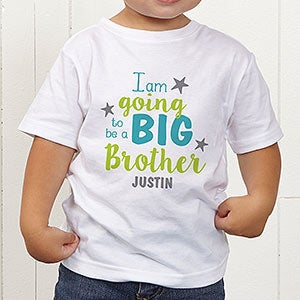 81c12441 Big Sister, Big Brother Personalized Toddler T-Shirt - Kids Gifts