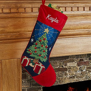 Personalized needlepoint christmas stockings snowman christmas christmas tree personalized needlepoint stocking 17317 t solutioingenieria Images