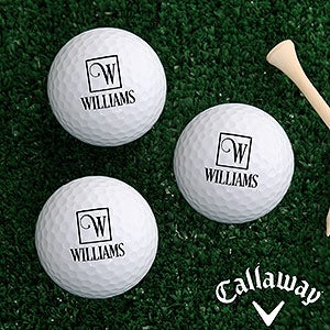 Personalized Golf Ball Set - Square Monogram - 17321
