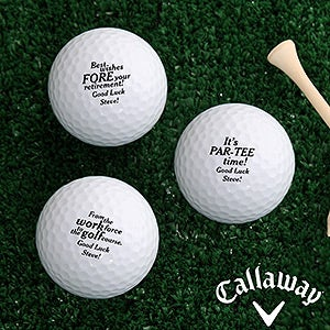 Personalized Retirement Golf Ball Set - 17323