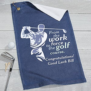 Personalized Retirement Golf Towel - 17324