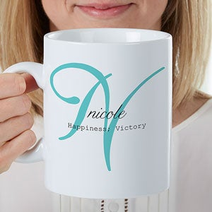 Personalized Oversized Coffee Mug - Name Meaning - 17338