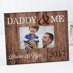 Personalized Rustic Picture Frame - Daddy & Me - 17358