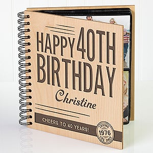 Personalized Birthday Photo Album - Vintage Age Birthday - 17366