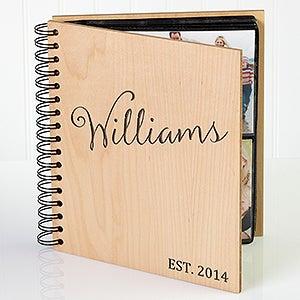 Personalized Wood Photo Album - Family Established - 17367