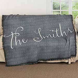 Together Forever Personalized 56x60 Woven Throw