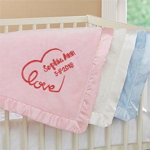 Embroidered Baby Blankets - Baby Love Keepsake - 17401