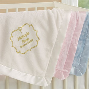 Embroidered Religious Keepsake Baby Blankets - Joyful Blessing - 17402