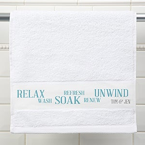 Personalized Hand Towel - Rest & Relaxation - 17404