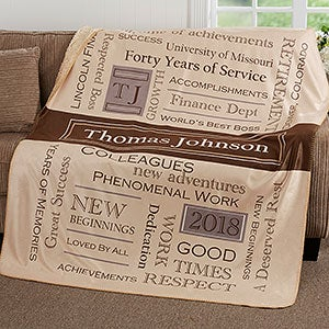 Personalized Retirement Sherpa Blanket - 17406