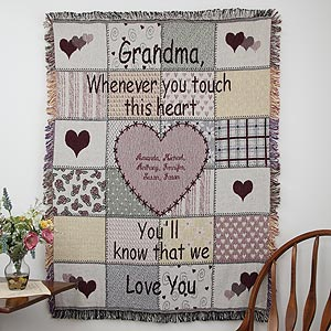 Personalized Grandmother or Mom Blanket - Her Special Touch Design - 1740D