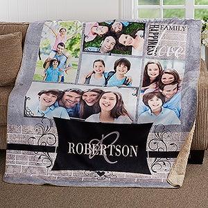 Personalized Family Photo Collage Premium Blanket - 17418