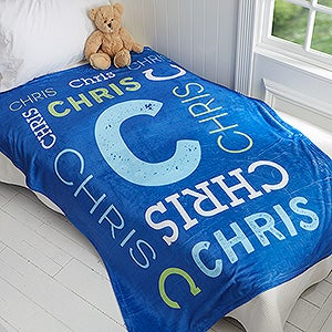 personalized fleece blankets for kids 50x60 name kids gifts