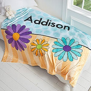 Personalized Fleece Blanket For Girls - 4 Designs - 17431