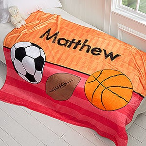 Personalized Kids Blanket for Boys - 50x60 Fleece Blanket - 17432
