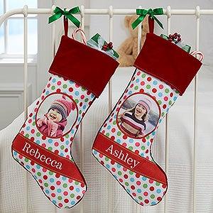 Photo Christmas Stockings - Polka Dot Christmas - 17441