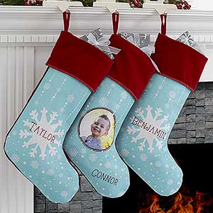 Personalized Snowflake Christmas Stockings - 17444