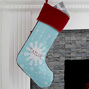 Personalized Snowflake Christmas Stockings - 17444